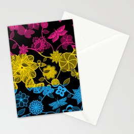 Butterfly Garden, Pride Flag Series - Pansexual Stationery Cards