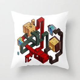 famous canvases Throw Pillow