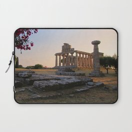 Paestum sunset Laptop Sleeve