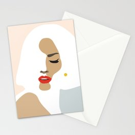Woman with earring Nr/3 Stationery Cards