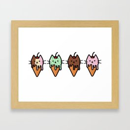 Kitty Ice Cream Framed Art Print