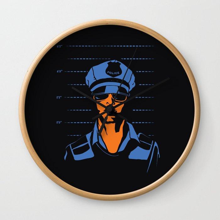 Dirty Cop Mugshot Police Brutality Art Print Wall Clock