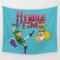 hyrule Wall Tapestries featuring Hyrule Time by Marcos Raya Delgado