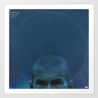 zidane Art Prints featuring LPFC: Zinedine Zidane by James Campbell Taylor