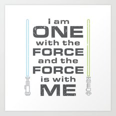 Force is with Me - Both Art Print