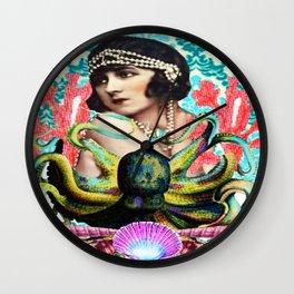 Octopus Girl Wall Clock