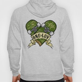 One Luv - Bored Heart - Olive Hoody