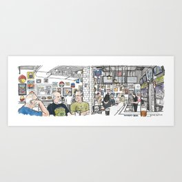 University of Beer, Davis Art Print