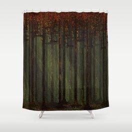 Autumn Forest - Pixel Art Shower Curtain