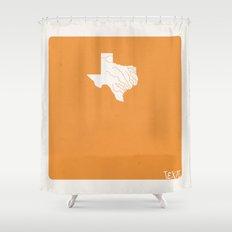 Texas Minimalist Vintage Map Shower Curtain