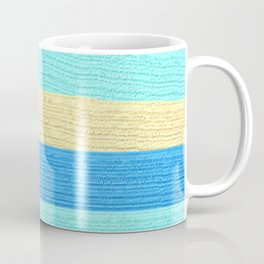 Ocean Blue Painter's Stripes Coffee Mug