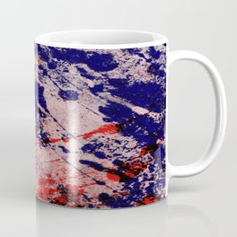 Hot And Cold - Textured Abstract In Blue, Red And Black Coffee Mug