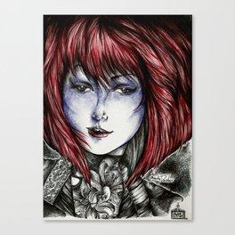 Isura (lilyneck portrait sketch)  Canvas Print