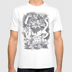 Suture up your future White MEDIUM Mens Fitted Tee