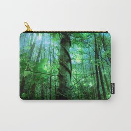 Forest Of The Fairies Green Blue Carry-All Pouch