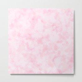 Strawberry Champagne Bubbles - Pale Pink Metal Print