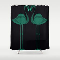 Flamingos Tropical Birds Paradise Shower Curtain