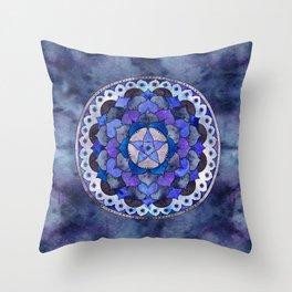 Star Mandala Storm Throw Pillow