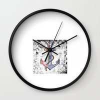 anchorman Wall Clocks featuring Anchorman by Funniestplace