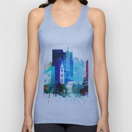 Denver Watercolor Skyline Unisex Tank Top