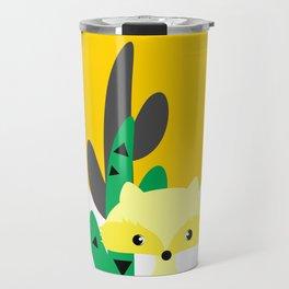 Cute fox in the desert Travel Mug