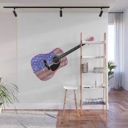 Stars and Stripes Guitar Wall Mural