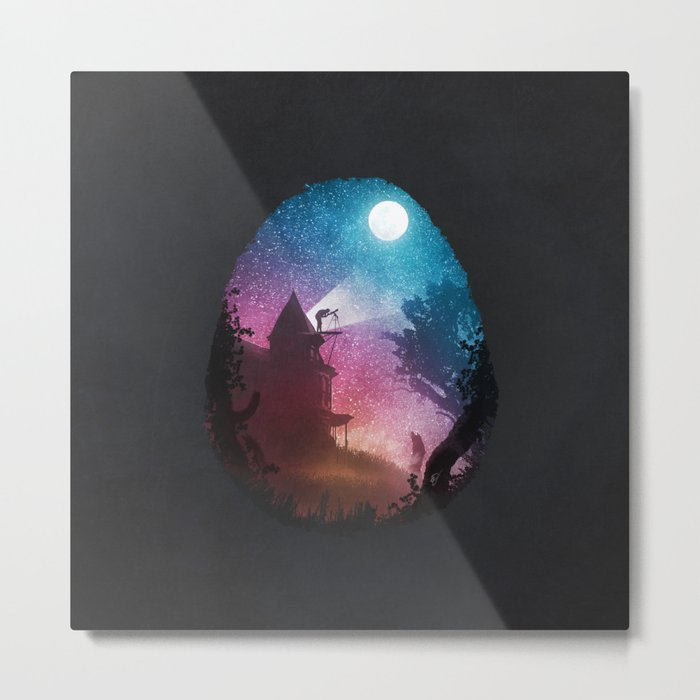 Young Astronomer Metal Print
