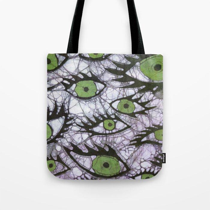 green eyes batik Tote Bag
