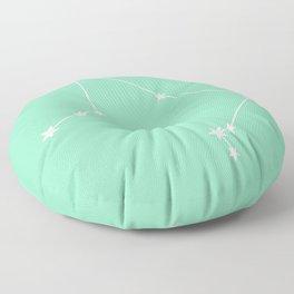 Libra (White & Mint Sign) Floor Pillow