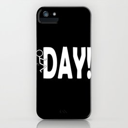 Hump Day - Humping Stickman Sarcasm Humor White Typography iPhone Case