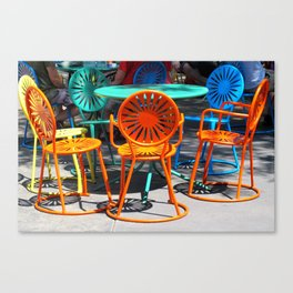 Colorful Chairs of Union Terrace - University of Wisconsin, Madison Canvas Print
