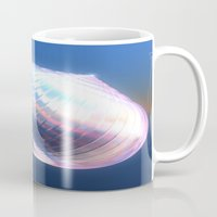 shell Mugs featuring Shell by Lynn Bolt