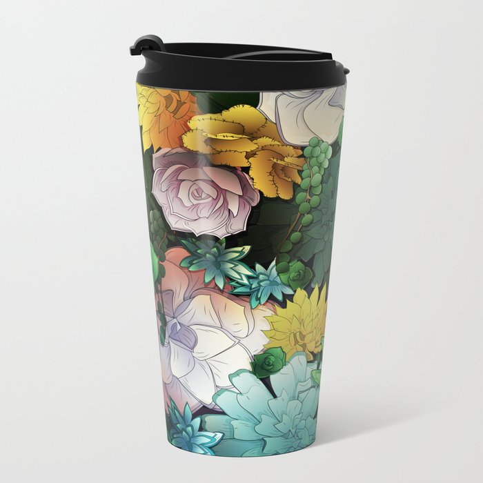Succulent World Metal Travel Mug