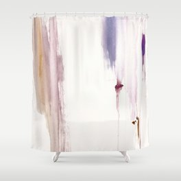 Sugar and Spice [2]: a minimal, pretty abstract piece in pinks, purple, mauve, and tan Shower Curtain