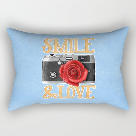 Smile and Love Rectangular Pillow