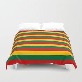 lithuania benin burkina faso flag stripes Duvet Cover