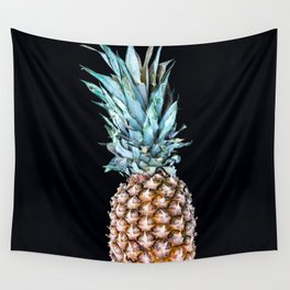 Pineapple On A Black Background #decor #society6 Wall Tapestry