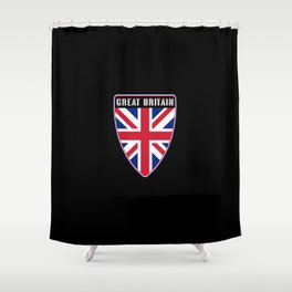 Great Britain Shield Shower Curtain