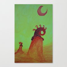 Plants and Moon Canvas Print