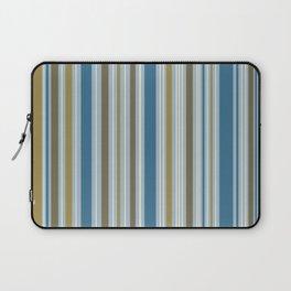 Stripey Design Gold Cream Brown Blues Laptop Sleeve
