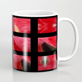 Mottled Red Poinsettia 2 Art Rectangles 2 Coffee Mug