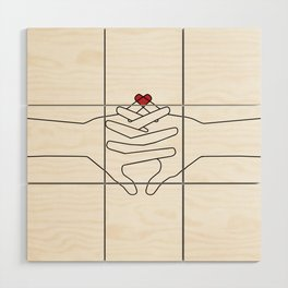 The Power of Love Wood Wall Art