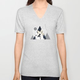 Triangle Wall Art Unisex V-Neck