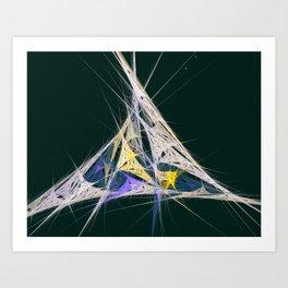 Colorful Spider Web Art Print