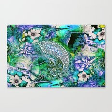 blue india Canvas Print