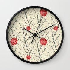 Branch & Roses Wall Clock