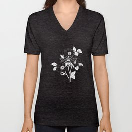 Save the bees black Unisex V-Neck