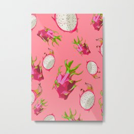 Dragonfruit Pattern Metal Print