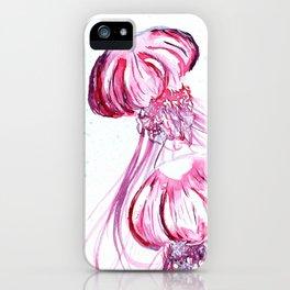 Pink Jellyfish 2 iPhone Case
