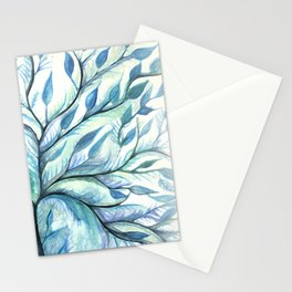 Tree of Life (blues) Stationery Cards